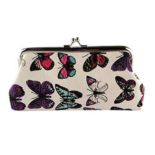 Portefeuille Femme Kolylong Papillon Femmes Porte-monnaie Petite carte Porte-monnaie Clutch Sac à main