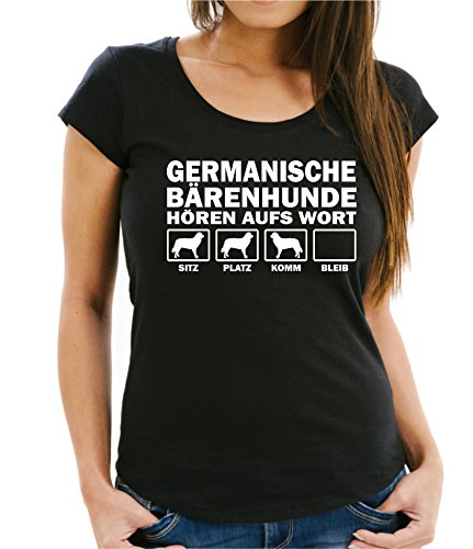 Siviwonder GERMANISCHER Bärenhund Bärenhunden Bär - Hören AUFS Wort Women Girlie T-Shirt Black S -34