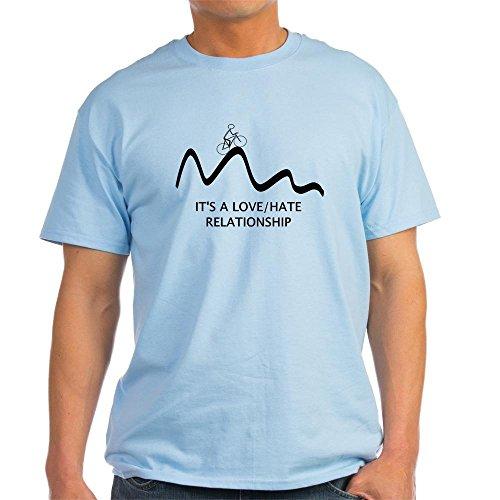 CafePress Einzigartiges Design Tee Bremsschuhe: Love Hate Beziehung T-Shirt Gr. Medium, Hellblau