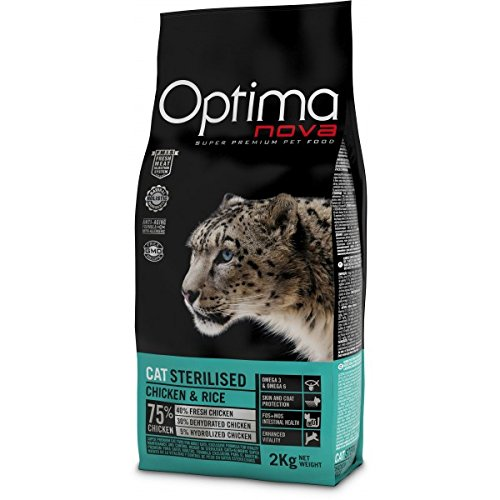 Optima nova - Pienso para Gatos Adultos ã'ptima Nova sterilised Pollo y arroz