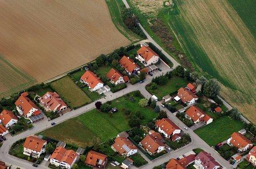 MF Matthias Friedel - Luftbildfotografie Luftbild von Otto-Wels-Straße in Kösching (Eichstätt), aufgenommen am 14.09.06 um 16:15 Uhr, Bildnummer: 4451-64, Auflösung: 4288x2848px = 12MP - Fotoabzug 50x75cm (Wels Uhr)