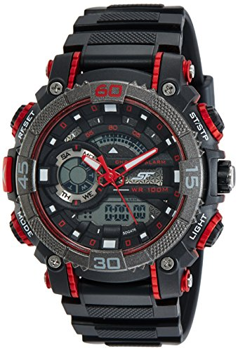 Sonata Digital Black Dial Men's Watch-77070PP01