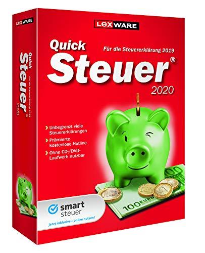 Lexware QuickSteuer 2020 für das Steuerjahr 2019|Minibox|Einfache und schnelle Steuererklärungs-Software für Arbeitnehmer, Familien, Vermieter, Studenten und Rentner