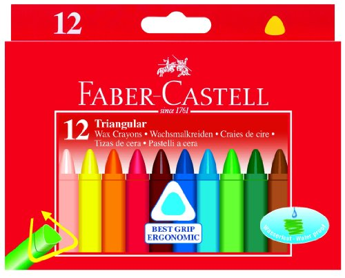 Faber-Castell 120010 – triangular de cera veces de lápices, 12er caja