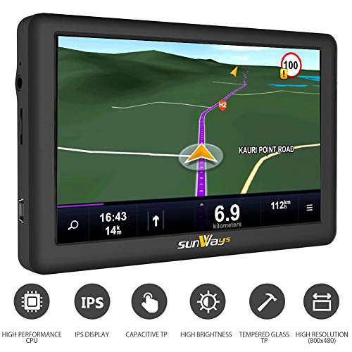Gps Voiture 5 Pouces Gps Auto Europe Voiture 8GB HD Afficher...