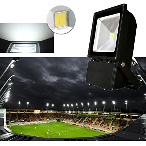 Preisvergleich Produktbild VINGO® 100W LED Fluter Außen Kaltweiß Flutlicht Strahler Scheinwerfer IP65 Baustrahler Leuchtmittel Strahler