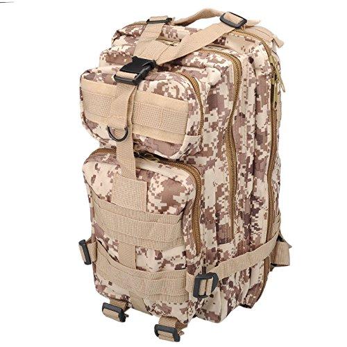Imagen de 30l  de marcha deportivo exterior militar impermeable molle con muchos bolsillos para acampada camping senderismo deporte backpack de asalto patrulla para hombre mujer digital del desierto