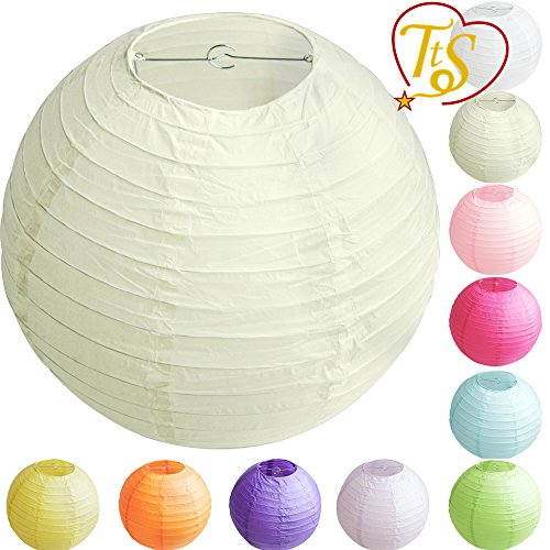 tts-10-round-paper-lanterns-lamp-shade-wedding-birthday-party-decoration-ivory