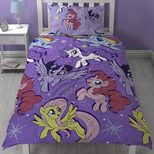 My Little Pony Film My Adventure 'Single Duvet Set-Wiederholungsdruck, Mikrofaser, mehrfarbig