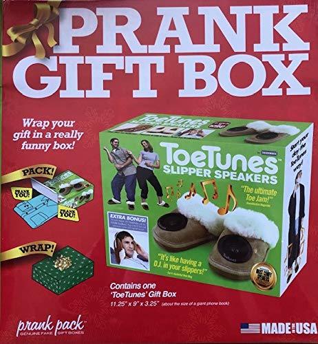 Neuheit-Toe-Tunes-Hausschuhe-Spa-Geburtstags-Party-Weihnachten-Prank-Geschenk-Box