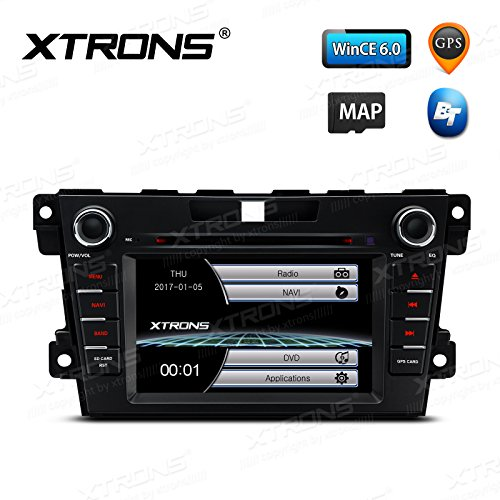 "XTRONS 7\"" Auto Naviceiver mit Touchscreen Autoradio Navigator DVD-Player Autostereo unterstützt GPS Navigation RDS Bluetooth Auto Musik Streaming FÜR Mazda CX-7 (2007-2012)"