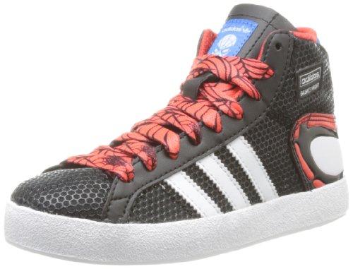 adidas Originals Basketprof Spider K, Baskets mode mixte enfant Noir (Black/Bluebird/Hi-Res Red)