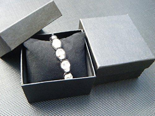 Vintage Noir Argent Boite de rangement de bijoux Organisateur de collier bracelet R Boite a bijoux TOOGOO