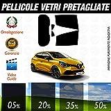 Kit Renault Clio dal 2012 ad Oggi Pellicole Oscuramento Vetri Auto Pre Tagliate a Misura Posteriore - 05%