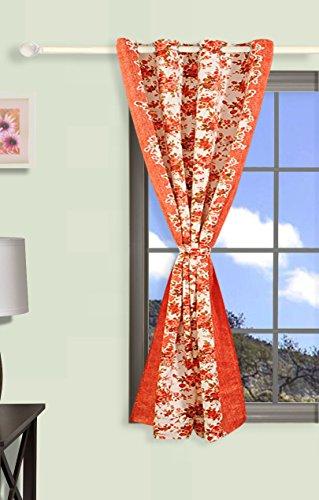 Swayam Curtain Concept Premium Printed Sigma Blackout Faux Silk Window Curtain - 48
