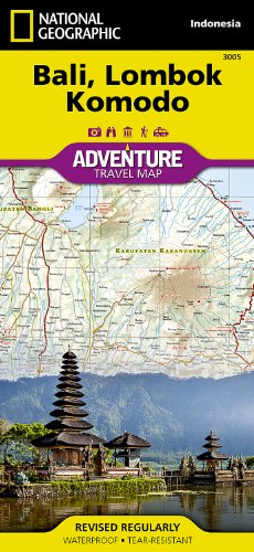 Bali, Lombok, And Komodo: Travel Maps International Adventure Map