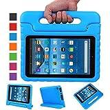 NEWSTYLE Fire 7 2015 Tablet Hülle EVA Stoßfeste Schutzhülle Tragbar für Kinder mit Ständer Schutzhülle Standfunktion für Amazon Fire 7.0 Zoll (5. Generation - 2015 Modell) Tablet,- Blau