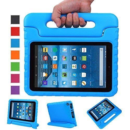 NEWSTYLE Fire 7 Funda Case, EVA Soporte de Cubierta de Mango de Protección Ligera para Niños para Fire 7 Tablet (7th Generation - 2017 Release)/Fire 7 Tablet (5th Generation - 2015 Release), Azul