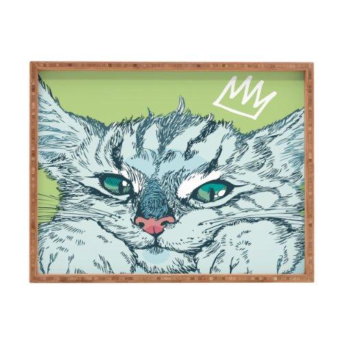 DENY Designs Geronimo Studio Cat Attack Indoor-/Outdoor Tablett rechteckig, 17x 22,5