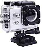 Technomart Cycling/Bike/Adventure Ultra HD 1080p DV Sports 12Mp Action Camera Water Resistant 140 Camcorder Camera (Black)
