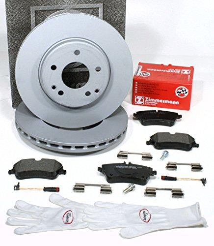 Preisvergleich Produktbild Autoparts-Online Set 60010531 Zimmermann Bremsscheiben Ø 288 mm Coat Z / Bremsen + Bremsbeläge + Warnsensoren für vorne / für die Vorderachse