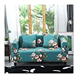 WUFANGFF Slipcover Blumenmuster Stretch Sofa Chemiefasergewebe Schonbezug Couch Covers Sofa Furniture Protector, 2Seat