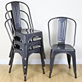 Shop Sting Set of 4 Metal Industrial Dining Chair