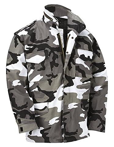 M65 Militaire Veste De Champ Avec Amovible Matelassé Interne Doublure - Urban Camouflage - L