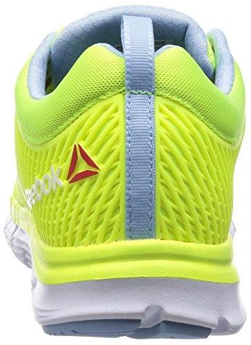 Reebok Zquick Dash Damen Laufschuhe Gelb (Solar Yellow/Denim Glow/White)