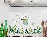 YwlQTie Oilproof Aufkleber Küche Hohe Temperatur Aufkleber Haube Wandaufkleber wasserdicht Selbstklebende Malerei kann entfernt Werden, 60 * 90 cm