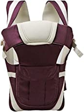 Chinmay Kids Bag Belt with Hip Seat and Head Support, 4-12 Months (Purple)