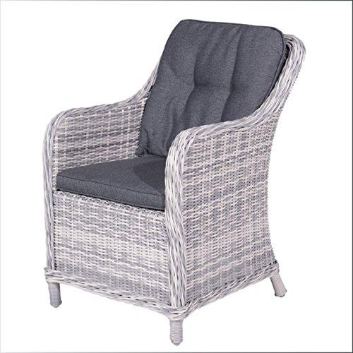 Garden Impressions Lounge-Geflechtsessel Milwaukee Grey inkl. Kissen