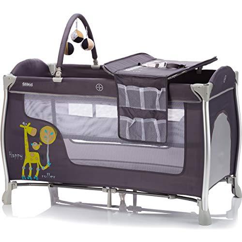 ALU Reisebett SET (inklusive Einhang Wickelauflage Spielbogen Matratze Tragetasche) Babybett Baby Kinder