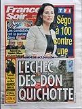 FRANCE SOIR [No 19415] du 19/02/2007 - PRESIDENTIELLE 2007 - LES CANDIDATS ONT LA PAROLE DANS FRANCE SOIR - AUJOURD'HUI FREDERIC NIHOUS ET GERARD SCHIVARDI - SEGO A 100 CONTRE UNE - L'ECHEC DES DON QUICHOTTE