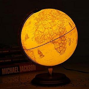 2 en 1 globo / globo del mundo / regalo educativo ideal para – iluminado – diámetro 25CM