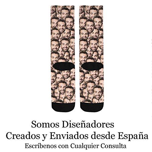 Calcetines Personalizados Con Cara -  Sube tu Foto Nosotros hacemos el trabajo! -  Calcetines Divertidos para Hombre y Mujer Unisex -  Con Fotos Caras Nombres