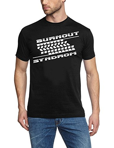 BURNOUT SYNDROM ! T-Shirt schwarz-weiss Gr.XL -