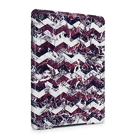 Purple Cherry White Marble Chevron Print Tablet Coque Housse Etui De Protection Plastique Dur Ligne Profil Slim Pour iPad Mini 1 Hard Plastic Case Cover