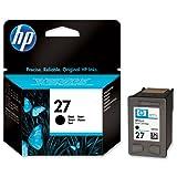 Original Tinte Passend für HP PSC 1315 Series HP 27BK, 27BLACK, C8727A, NO27, NO27BK, NO27BLACK, Nr 27 C8727AE, C8727AEABB, C8727AEABD - Premium Drucker-Patrone - Schwarz - 280 Seiten - 10 ml