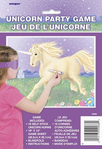 Unique Party - 9088 - Jeu de Fête Licorne pour 16 Joueurs 7662558104871