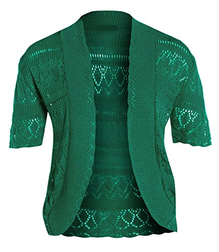 Janisramone femme Boléro shrug crochet tricot cardigan taille 8-24 Jade