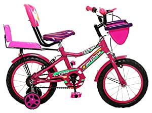 Outdoor Bikes Unisex Skoolmate 14-inch Semi- Assembled Bicycle with Assembly Instruction Manual and Tool Kit, 2.5-4.5 Years (ODSKOOLMATE14PINK)
