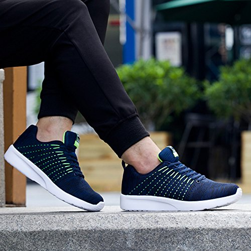 Homme Chaussures de Mesh Respirante Sports Fitness Gym Athlétique Baskets Poids Léger Noir Bleu Blanc Bleu