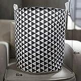 ZXXFR Baumwolle Bettwäsche Falten Bügeleisen Gefäß Aufbewahrungsbox, Wäschekorb, Schwarzes Dreieck, 40 X 45