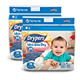 #7: Drypers Wee Wee Dry Medium Size Diapers (Pack of 2, 74 Counts per Pack)