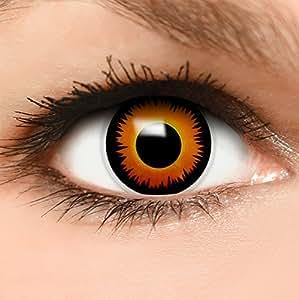 farbige kontaktlinsen l we in orange beh lter top. Black Bedroom Furniture Sets. Home Design Ideas