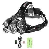 LED Stirnlampe mit USB, Neolight LED KopflampeWasserdichte Wiederaufladbare Stirnlampe mit 4 Modi Ideal für Wandern, Angeln , Klettern, Fahrrad Fahren, Notfall
