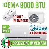 Givimusic CONDIZIONATORE CLIMATIZZATORE IDEMA NBSJ-09 9000 BTU A Motore Toshiba WiFi