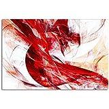 Leinwandbild Abstraktes Farbspiel rot auf Leinwand und Keilrahmen. Beste Qualität, handgefertigt in Deutschland! 80x60cm