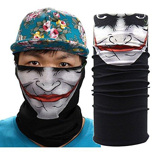 AmyGline New Cycling Motorcycle Neck Tube Ski Scarf Face Mask Balaclava Halloween Party Outdoor MaskDust Mask